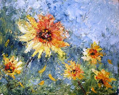 Painting - Sunflowers In Bloom by Mary Spyridon Thompson