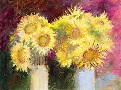 Painting - Sunflowers In Jars by J Reifsnyder