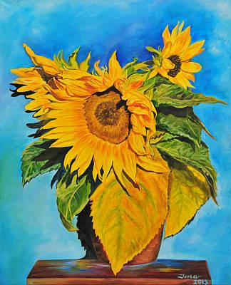 Sunflowers Art Print by Jana Goode