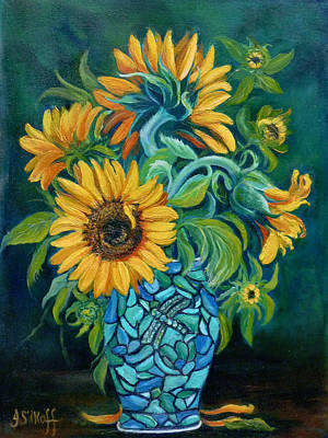 Painting - Sunflowers by Janet Silkoff