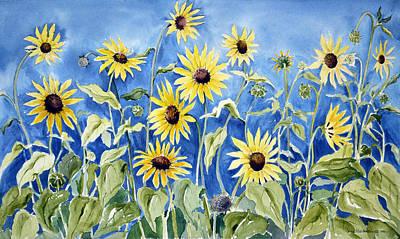 Sunflowers Art Print by Joan Hartenstein