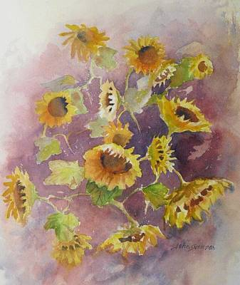 Painting - Sunflowers by John  Svenson