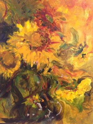 Painting - Sunflowers  by Karen Carmean