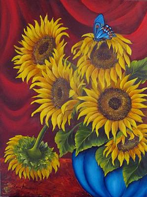 Painting - Sunflowers by Katia Aho
