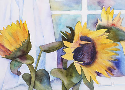 Painting - Sunflowers by Kerrie  Hubbard