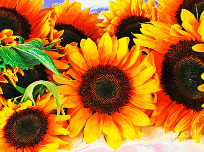 Photograph - Sunflowers by Larry Oskin