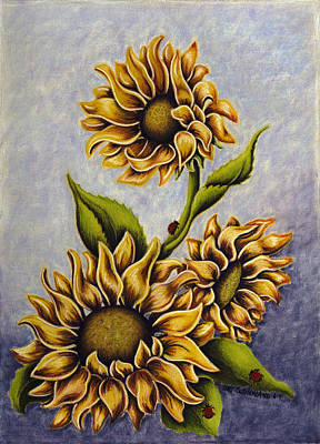Painting - Sunflowers by Lori Sutherland