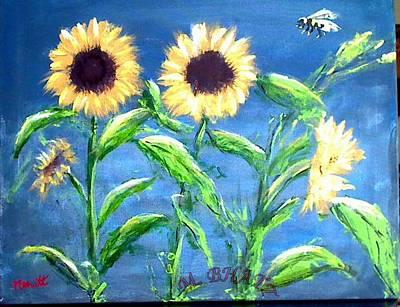 Painting - Sunflowers by M Bhatt