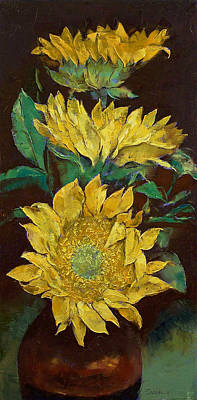 Flor Painting - Sunflowers by Michael Creese