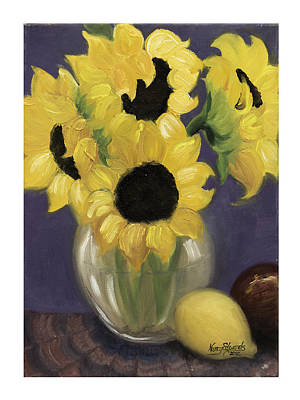 Sunflowers Art Print by Nancy Edwards