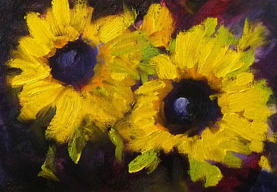Painting - Sunflowers by Nancy Merkle