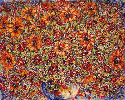 Sunflowers  Art Print by Natalie Holland
