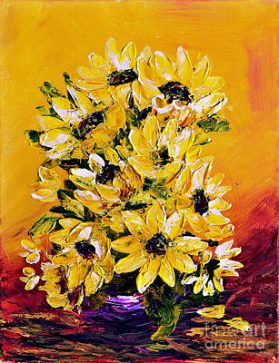 Sunflowers  No.3 Art Print by Teresa Wegrzyn