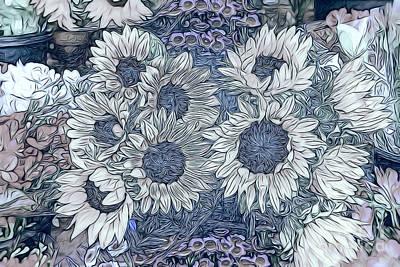 Sunflowers Paris Art Print