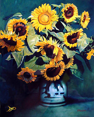 Sunflowers Royalty-Free and Rights-Managed Images - Sunflowers by Patrick Anthony Pierson