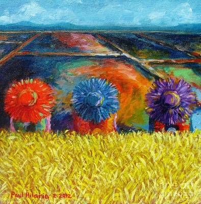 Rice Field Painting - Sunflowers by Paul Hilario
