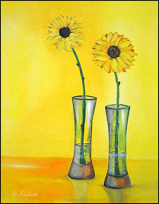 Sunflowers Art Print by Rafath Khan