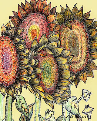 Sunflowers Revisited Art Print