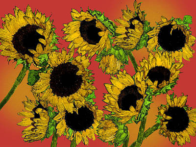 Sunflowers Art Print by Robert Ashbaugh