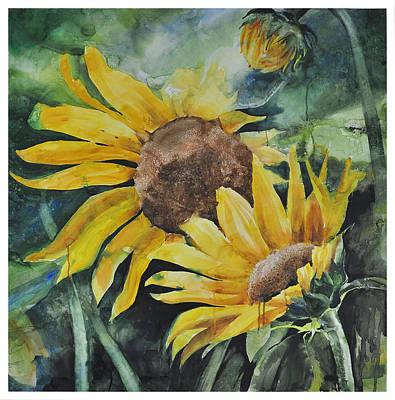 Painting - Sunflowers by Santanu Maity