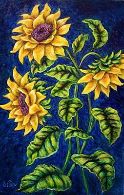 Painting - Sunflowers by Sebastian Pierre