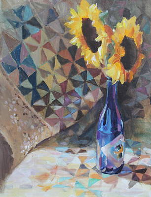 Painting - Sunflowers by Susan Bradbury
