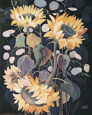 Sunflowers' Symphony Art Print by Marina Gnetetsky