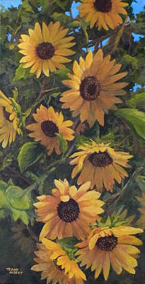Painting - Sunflowers by Terry Albert