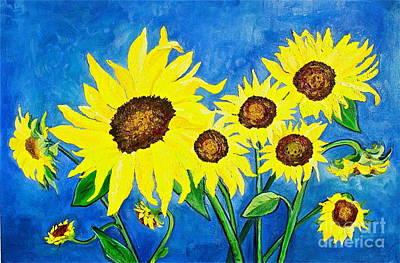 Banff Artist Painting - Sunflowers by Virginia Ann Hemingson
