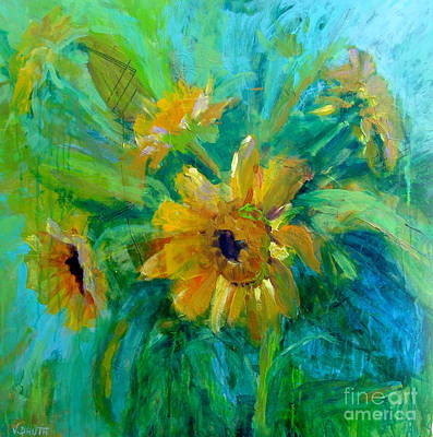 Painting - Sunflowers by Virginia Dauth