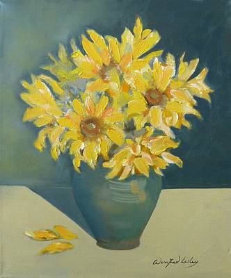 Painting - Sunflowers by Winifred Lesley
