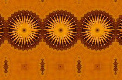 Abstract Digital Art - Sunflowers by Georgiana Romanovna