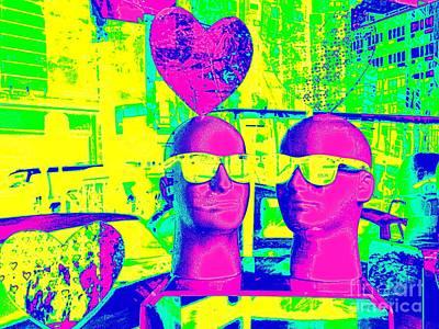 Digital Art - Sunglass Sweethearts by Ed Weidman