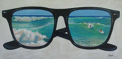 Sunglass Wave Art Print by Brenda Gordon