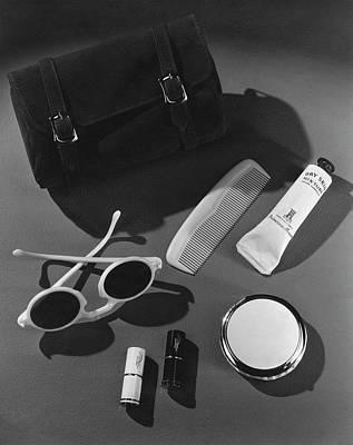 Purse Photograph - Sunglasses, Lipstick, And A Purse by John Rawlings
