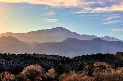 Photograph - Sunglazed Peak by Clarice  Lakota