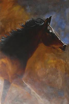 Mustang Painting - Sunhorse by Jack Atkins