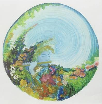 Reflection In The Sunken Tea Garden Art Print