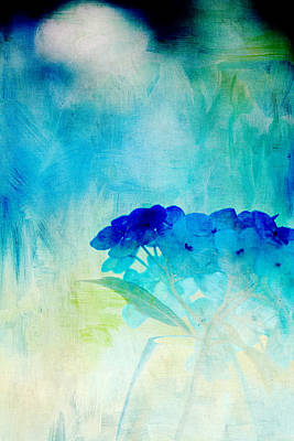 Sunkissed Hydrangeas Print by Bonnie Bruno