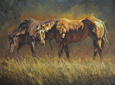 Working Cowboy Painting - Sunkissed by Mia DeLode
