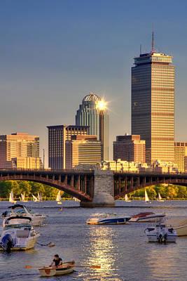 Boston Skyline Photograph - Sunkissed Prudential - Boston by Joann Vitali