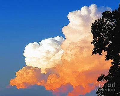 Sunkissed Storm Cloud Art Print