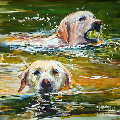 Water Retrieve Painting - Sunkist by Molly Poole