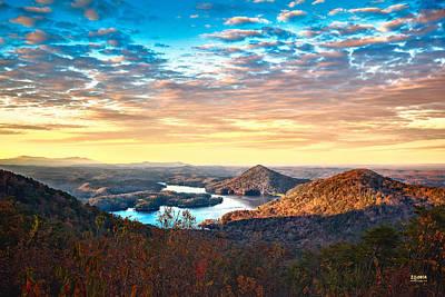 Photograph - Sunlight Across Parksville Reservoir by Steven Llorca