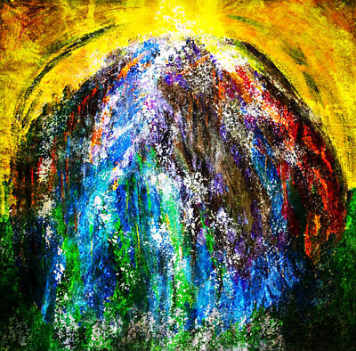 Painting - Sunlight Beyond The Waterfall by Marie Jamieson