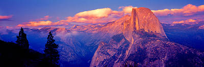 Half Dome Photograph - Sunlight Falling On A Mountain, Half by Panoramic Images