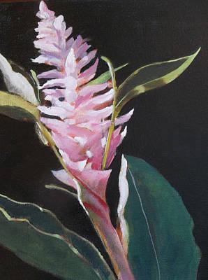 Sunlight Ginger Blosom Art Print by Walt Maes