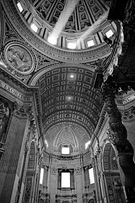 Vatican Photograph - Sunlight In St. Peter's by Susan Schmitz