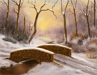 Painting - Sunlight In Winter by Sena Wilson