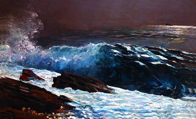 Rocky Coast Digital Art - Sunlight On The Coast by Winslow Homer